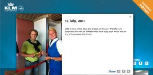 Jelle Drijver verrast door KLM