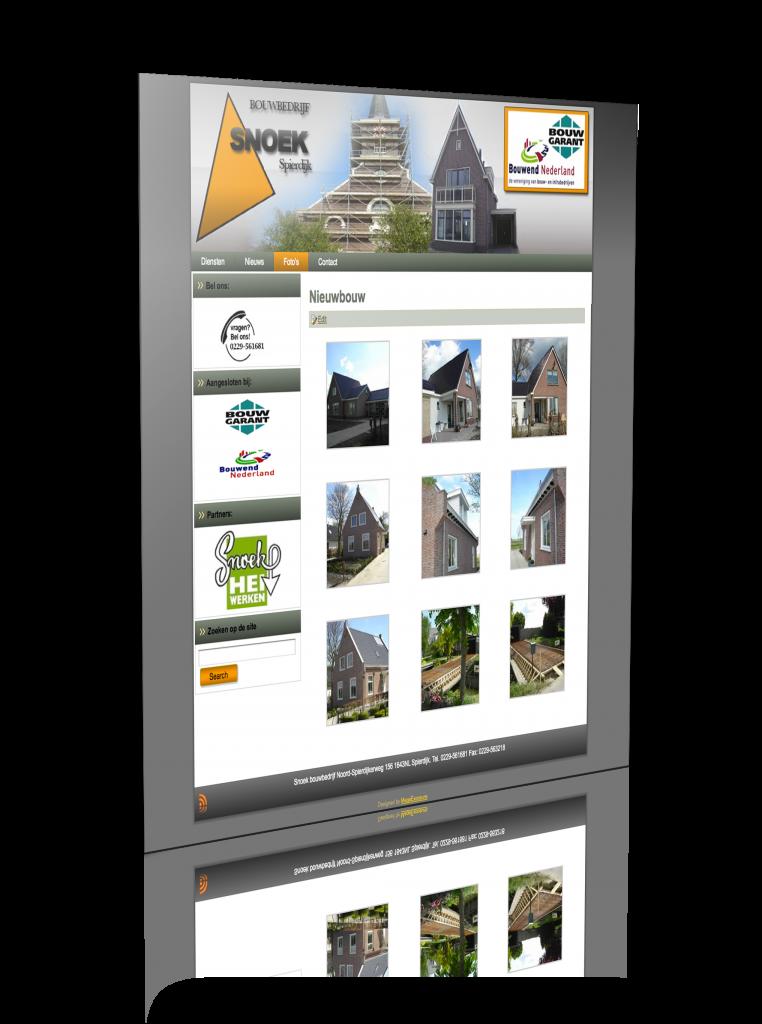 De nieuwe website van Snoekbouwbedrijf.nl