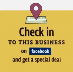 Facebook check in deals