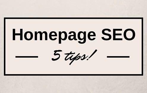 Homepage SEO 5 tips