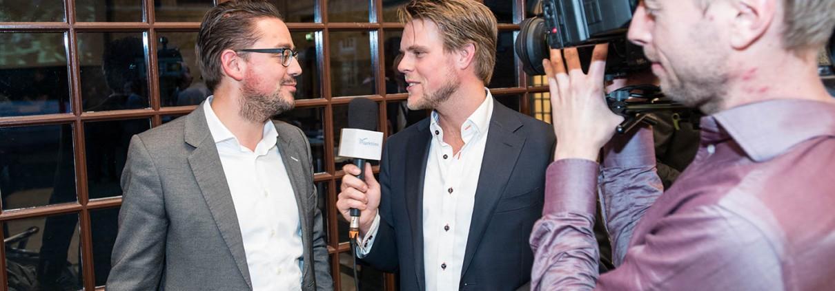 Interview Jelle Drijver en Floris Venneman na afloop Marktlink Nyenrode videoproductie
