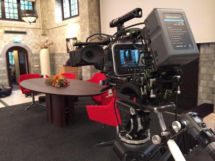 Videoproductie Black Magic Camera MegaExposure Relatiedag Marktlink Nyenrode