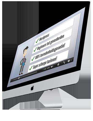 iMac met goedkope animatie video