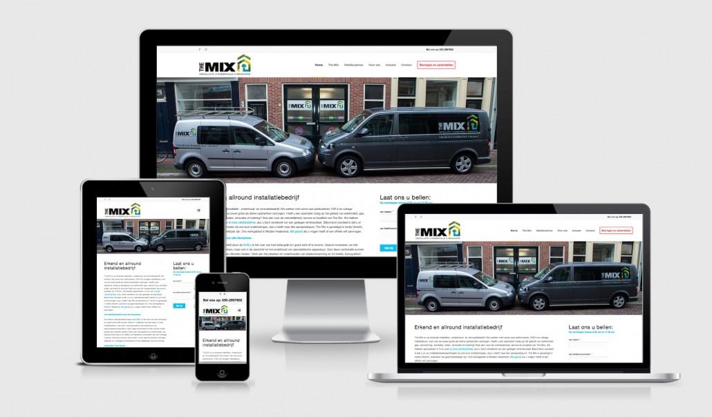 Wordpress website voor Installatiebedrijf The Mix uit Utrecht