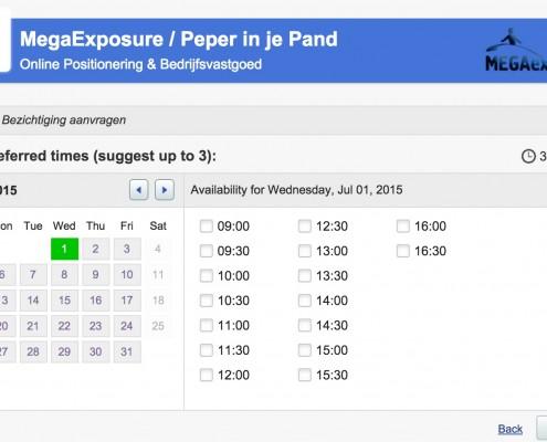 Afspraken_inplannen_tool_-_MegaExposure_beschikbaarheid_2