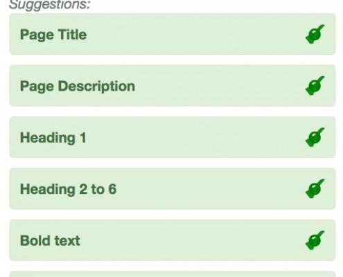 WebTextTool SEO teksten Vinkjes 100 procent